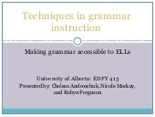 Grammar instruction (1)