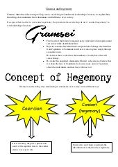 Gramsci and hegemony