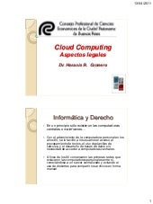 Aspectos legales del cloud computing