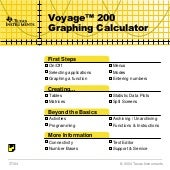 Graphic calculator ti voyage 200 gu...