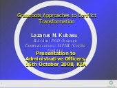 Grassroots Approaches To Conflict O...