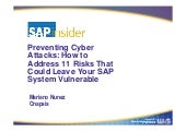 GRC 2013 Preventing Cyber Attacks for SAP - Onapsis Presentation