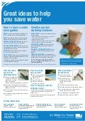 Great Ideas to Help You Save Water - Victoria, Australia