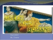 Greek and romans chapter 4