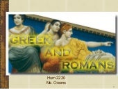 Greek and romans intro and chapter01