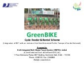 GreenBIKE Project - Best NMT Projec...