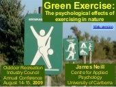 Green exercise: The psychological e...
