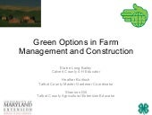 Green Options in Farm Management & ...