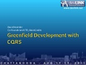 Greenfield Development with CQRS