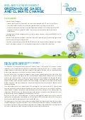 Greenhouse Gases and Climate Change - EPA Ireland Factsheet