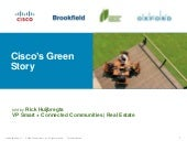 Cisco's Green Story for Greening Gr...