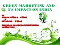 Green marketing and it's impact on india