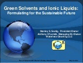 Green Solvents And Ionic Liquids