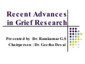 Recent advances in grief research