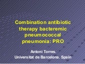 Combination antibiotic therapy bact...