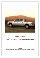 Market Entry Strategy - Tata Xenon ...