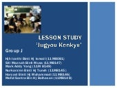 Group J Lesson Study Presentation