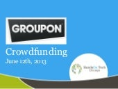 Groupon crowdfunding presentation