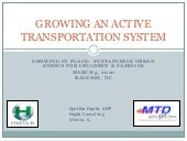 Growing An Active Transportation Sy...