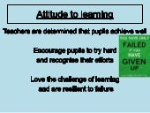 Growth mindset and can do culture
