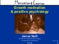 Growth motivation and positive psychology