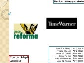 Grupo Reforma y Time Warner