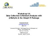 Workshop on Data Collection & Network Analysis with @Netlytic & the iGraph R Package