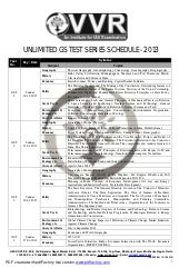 Gs test series Schedule