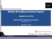 GSA Mobile Broadband Status Report ...