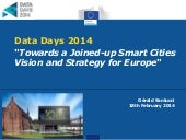Towards a Joined-up Smart Cities Vision and Strategy for Europe - Data Days