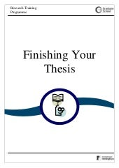 Finishing your thesis 2