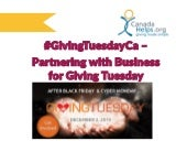 Partnering with Business for GivingTuesday!