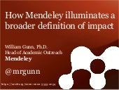 ICSTI TACC 2014: How Mendeley Illuminates a Broader Definition of Impact