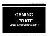 Gaming Update London Games Conference