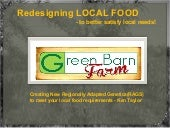 Redesigning Local Food to Better Sa...