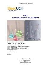 Guia de materiales de laboratorio