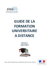GUIDE DE LA FORMATION UNIVERSITAIRE...