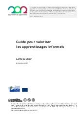 Guide des apprentissages informels
