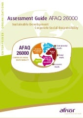 Assessment guide AFAQ 26000