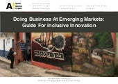 Guidebook on inclusive innovation f...