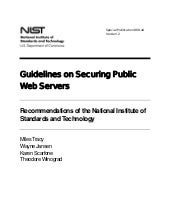 Guidelines on Securing Public Web S...