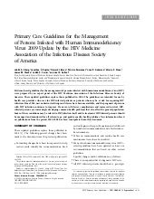 Guidelines For The Management Hiv 2009