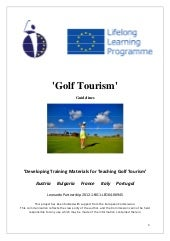 Guidelines training tourism students to work in golfs