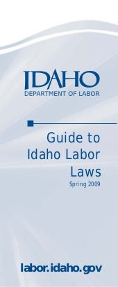 Guide to idaho labor laws
