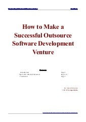 Guide to make a successful outsource software development venture by shamit khemka