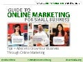 Guide to online marketing for small business