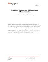 Guide to transformer resistance tes...