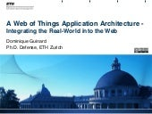 Web of Things Application Architecture