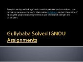 gullybaba solved ignou assignments