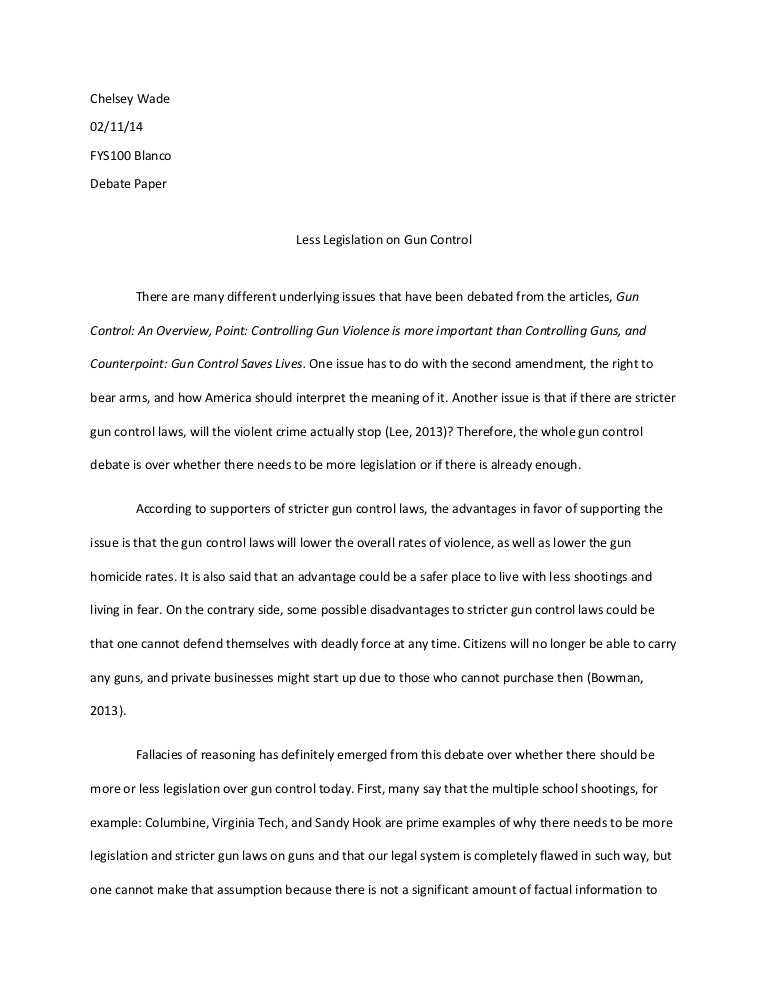 essay on gun laws co essay